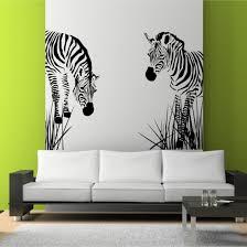 living room decoration ideas delightful zebra wall art stencil on