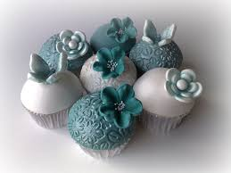 teal wedding teal wedding cupcakes