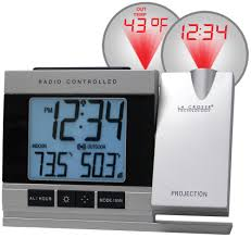 wall mounted digital alarm clock amazon com la crosse technology wt 5220u it projection alarm