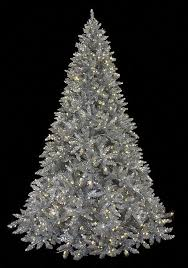 7 and 9 foot matte silver tree with led lights autograph foliages