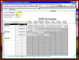 shift schedule template weekly schedule template for word version