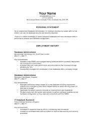 Resume Impact Statement Examples by Resume Personal Statement Examples Cv Resume Ideas