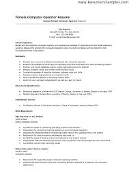 Data Entry Operator Resume Format Sample by Computer Operator Resume Format Sample Resume Format
