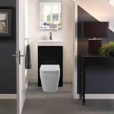 eco bathrooms 500 gloss black washbasin u0026 wc victorian plumbing