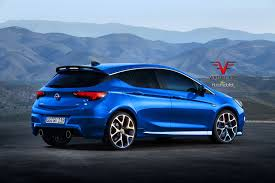 opel astra opc 2015 2017 opel astra opc gets rendered proves hatches are turning