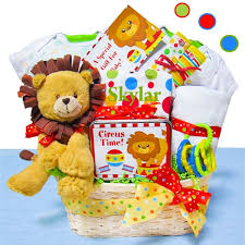 newborn gift baskets baby gift basket day at the circus personalized baby gifts