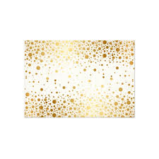 reception card faux foil confetti gold and white reception card luxury
