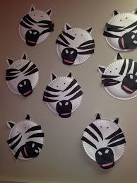 zebra craft for my montessori kindergarten preschool kids with