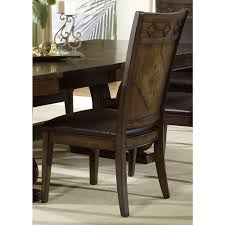 dining room table design with cozy white leather seat pad pictures