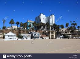 beach houses santa monica los angeles california usa stock