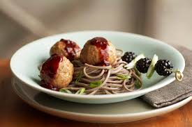 asian meatballs with blackberry hoisin sauce