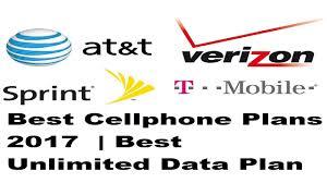 best cellphone plans 2017 best unlimited data plan verizon t