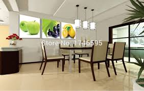 Wall Pictures For Dining Room Big Size 3pcs Modern Decor Restaurant Dining Room Wall Decor