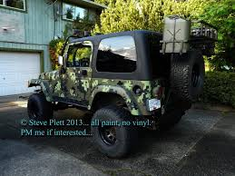camo jeep cherokee two jeeps i painted one cadpat one swedish splinter