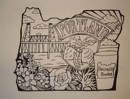powell u0027s books portland oregon outline drawing pen on paper 5