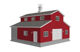 Barn Style Garage With Apartment Plans Barn Plans Sds Plans