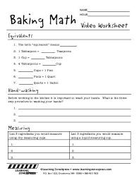 kitchen math measuring worksheet answers kitchen math testfood