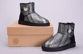 ugg for sale in usa cheap original ugg 1003735 sheepskin plush boots silver black clearance sale 392 jpg