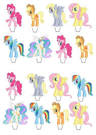 my pony cupcake toppers best 25 my pony cupcakes ideas on my