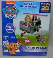 nickelodeon paw patrol skye u0027s helicopter mini 3d puzzle 24 pc