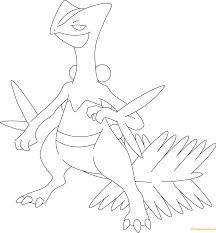 sceptile pokemon coloring free coloring pages