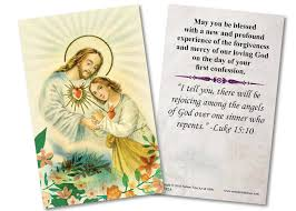 reconciliation gifts sacred heart reconciliation holy card catholic to the max