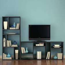 tv stands amazing tvands with bookshelves lcdand price blue wall