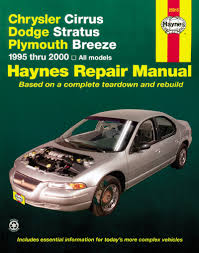 chrysler cirrus dodge stratus plymouth breeze 95 00 haynes