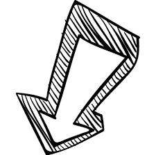 down arrow sketch free vectors logos icons and photos downloads