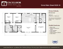 3 Bedroom House Floor Plans With Models Schult Independence 6028 18 Excelsior Homes West Inc