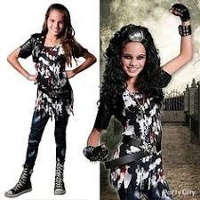 Halloween Costumes Girls Scary Juniors Girls Zombie Costume Ripped Dress Leggings Fancy Halloween