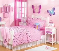 endearing girl pink bedroom decoration using light pink purple endearing girl pink bedroom decoration using light pink purple flower bed sheet including large pink purple butterfly wall murals and white lace girl bed