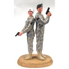 marine cake topper us army camo wedding cake toppers