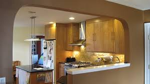 kitchen half wall ideas opening wall between kitchen and living room kitchen view after