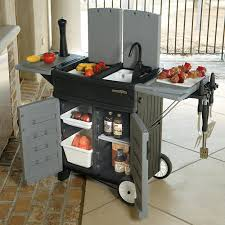 outdoor cooking prep table deluxe outdoor food prep station