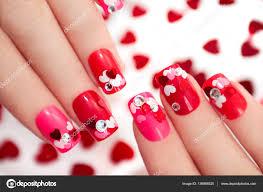 nail designs with hearts u2014 stock photo marigo 136998520