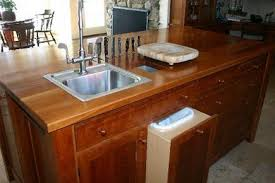 Cherry Cabinets Kitchen - Kitchen prep sinks