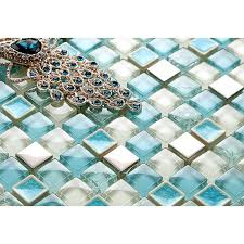Glass Mosaic Tile Backsplash Cheap Stainless Steel Crystal Glass - Cheap mosaic tile backsplash