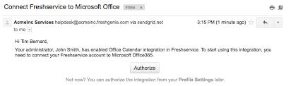 Microsoft Office Help Desk Freshservice Integration With Microsoft Office 365 Calendar