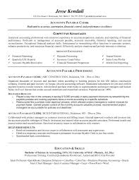 resume sle of accounting clerk test speed mail clerk job description template templates accounts receivable