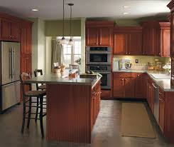 Rouge Cherry Cabinet Finish Aristokraft Cabinetry - Pictures of kitchens with cherry cabinets