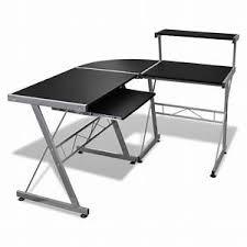 vente bureau bureau d angle noir superbe bureau d 39 angle noir modulable