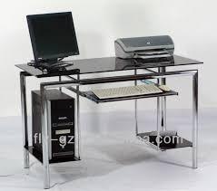 Glass And Chrome Desk Popular Glass High Quality Computer Desk For Sale View Glass