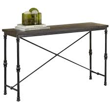 Industrial Console Table Steve Silver Lillian Industrial Console Table In Oak Ll350s