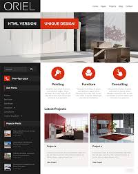 25 architect u0026 interior website design html templates dzineflip