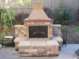 a beautifully completed installation of a perfect outdoor fireplace bbq