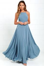 maxi dress beautiful slate blue dress maxi dress backless maxi dress 64 00