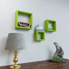 Interior Colors That Sell Homes 3 Nesting Square Wall Shelves By Decornation Green