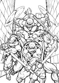 teenage mutant ninja coloring pages kids printable free