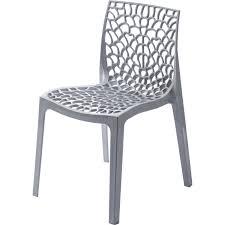 chaises grise chaise de jardin en résine grafik gris perle leroy merlin